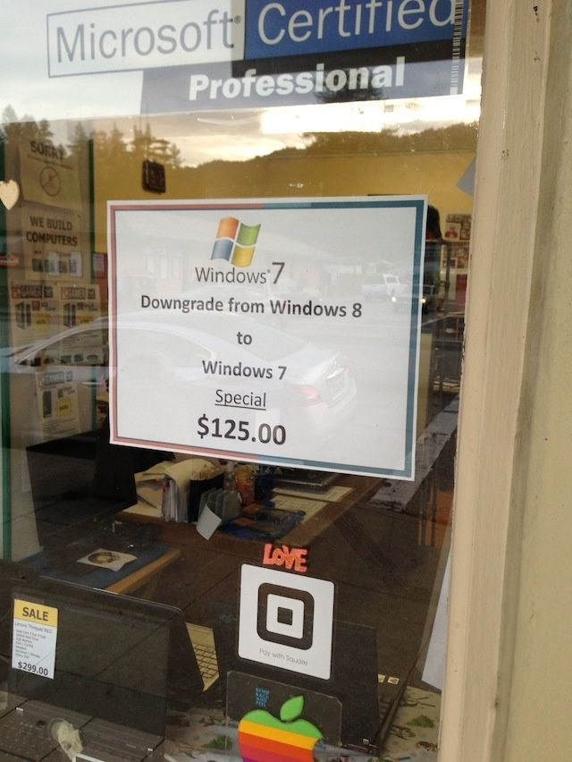 downgrade to windows 7