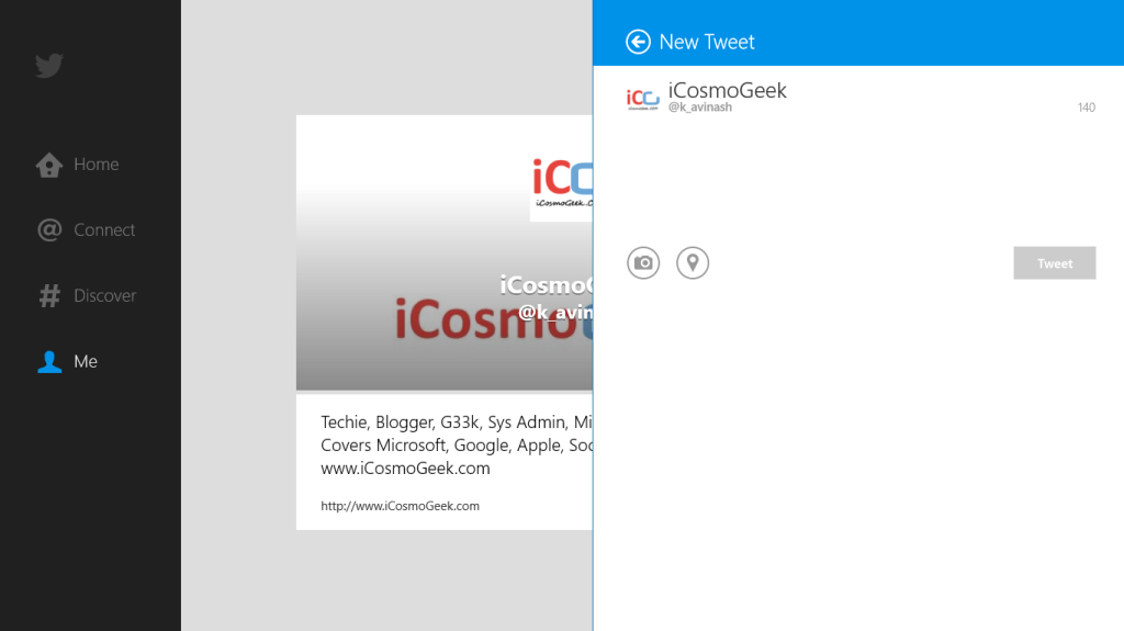 Official Twitter app for Windows 8