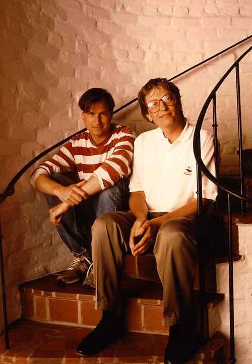 Young Bill Gates and Steve Jobs