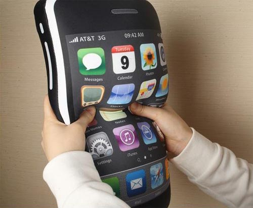 Big iPhone cushion